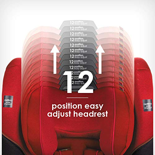 51uM1JeUOGL - Diono Radian 3QX 4-in-1 Rear & Forward Facing Convertible Car Seat | Safe+ Engineering 3 Stage Infant Protection, 10 Years 1 Car Seat, Ultimate Protection | Slim Design - Fits 3 Across, Red Cherry