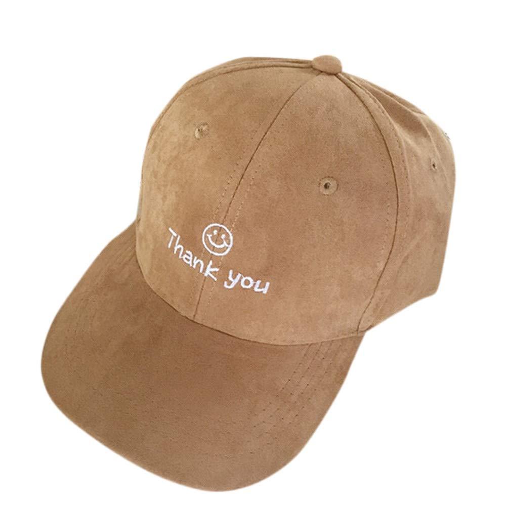 2019 New Unisex Mens Womens Suede Baseball Caps Snapback Visor Sports Sun Adjustable Hip Hop Cotton Washed Hat (Khaki)