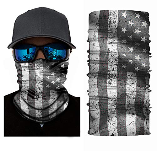 Accessories Gloves Scarves - Nuoxinus Balaclava American Flag Outdoor Face Mask, Neck Gaiter, Headwear, Face Sun Mask, Magic Scarf, Bandana, Headband, Dust-proof UV Protection for Halloween Motorcycle Cycling Fishing Skiing