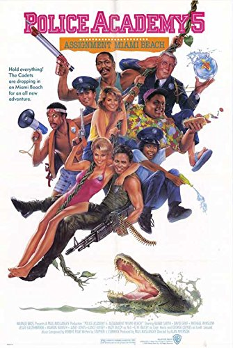 Police Academy 5 Assignment Miami Beach Poster