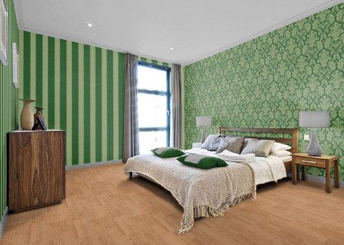 Wallpaper wall baroque damask EDEM 752-38 luxury heavyweight green gold platin-grey 5.33 sqm (57 sq ft) by Edem (Image #2)