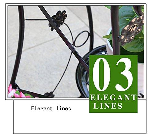 ZHLRACK Stand de Fleur Continental Continental Continental Fer Art Balcon Multilayer Landing Viande Pot Rack Salon Étagère 75cm de Haut Mural (Couleur : Noir) 782c5c