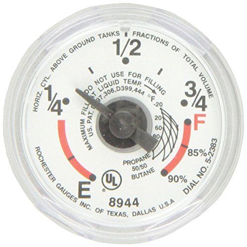 Manchester Tank G12653 LP Gas Tank - Snap-On Dial Gauge (Compressed Gas Gauges)