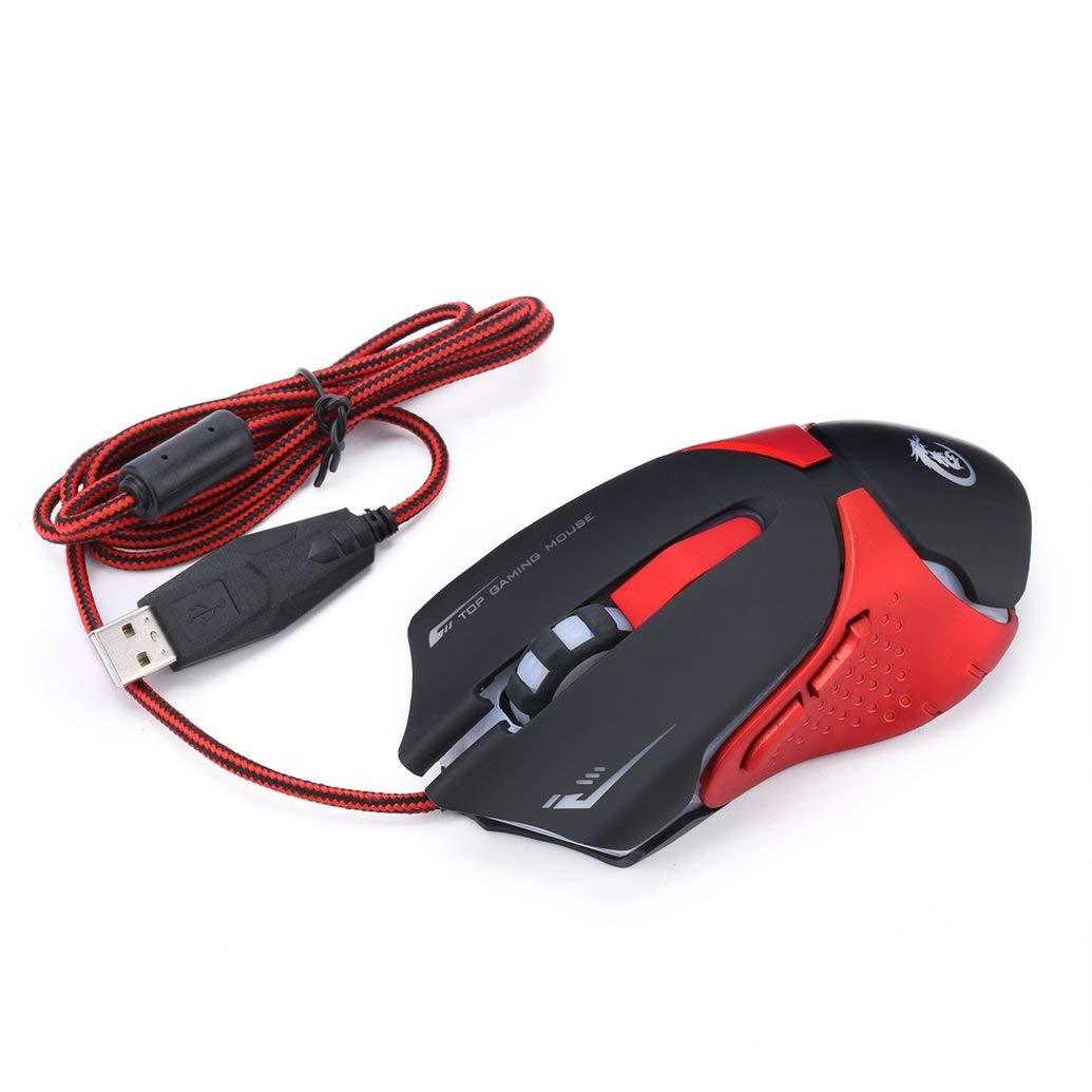 Celerest Rat/ón port/átil 3D ergon/ómico con Cable Ordenador port/átil Rat/ón USB Ordenador port/átil con Ahorro de energ/ía Rat/ón de Juego port/átil