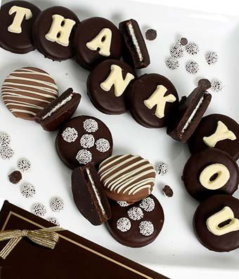 From You Flowers - THANK YOU Belgian Chocolate Covered OREO Cookies - 12 Pieces