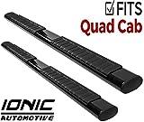Ionic Voyager Plus Black Running Boards 2015-2018 Dodge Ram Quad Cab