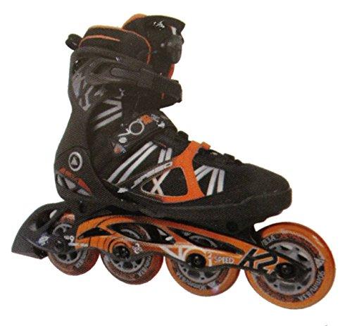 K2 Herren Inline Skate Vo2 90 Speed Boa M Inlineskate Schwarz/Orange