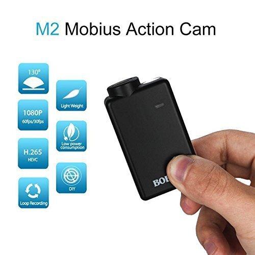 BOBLOV Mobius 2 Action Camera HD 1080p 60fps Mini Sports FPV Drone Cam Car DVR Video Recorder H.265 HEAV