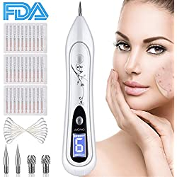 Skin Tag Remover, OKEEY Skin Tag Remover Portable USB Rechargeable Spot Eraser Pro Pen 9 Strength Levels for Face Body - Warts,Nevus, Dark Spots, Tattoo Security Removal Tool with LCD Display