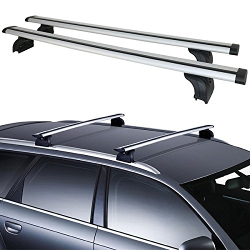 Aluminum Roof Rack Cross Bar Top Rail Luggage Cargo Carrier With Lock For  SUV