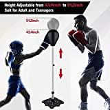 TEXXIS Punching Bags with Stand |for Youth & Kids & Adults| Reflex Boxing Bag Free-Standing Speed Ball Adjustable Height 110-130cm