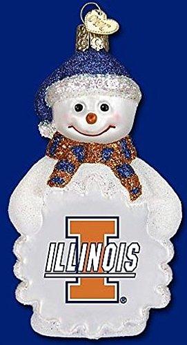 NCAA Illinois Fighting Illini Glass Snowman ()