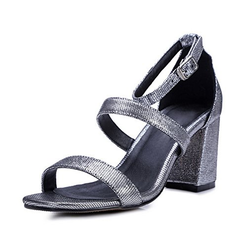 Adee Ankle Cuff Western Silver Girls Sheepskin Buckle Sandals qrB5qAp