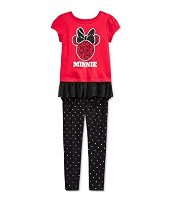 48b95678e Amazon.com  Disney Minnie Mouse Little Girls 2-Pc. Tunic   Leggings ...