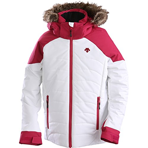 Descente Girl's Elsa Jacket White/Pink Size J10 by Descente