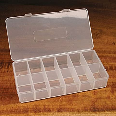 Hareline 12 Compartment Drilled Dubbing Box - 12 Compartment Fly Box