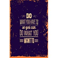 My Bucket List Journal: Do What You Have To, 6 x 9, 100 Bucket List Goals