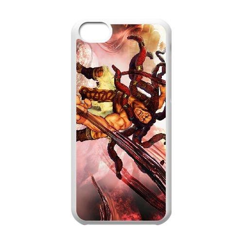 Street Fighter V 2 coque iPhone 5c cellulaire cas coque de téléphone cas blanche couverture de téléphone portable EEECBCAAN02968