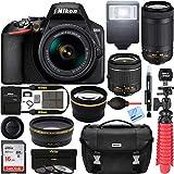 Nikon D3500 24.2MP DSLR Camera with AF-P 18-55mm VR Lens & 70-300mm Dual Zoom Lens Kit 1588 (Renewed) with 16GB Accessory Bundle