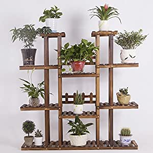 New Detachable Flowerpot Modern Minimalist Flowerstand Balcony Green Plant Frame Outdoor Storage Rack Frame Bedroom Living Room Shelves Aisle Storage Shelf ( Design : 3 )