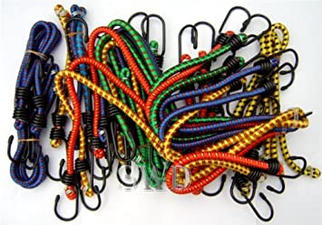 """24pc Luggage Strap Ties Bungee Set Stretch Cord Elasticated 30/"""" 18/"""" 10/"""" 24/"""" 16/"""""""