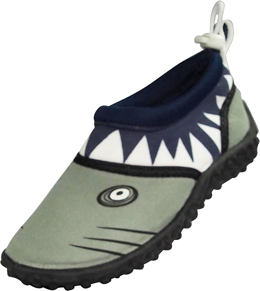 NORTY Toddler Slip-On Water Shoes for Boys /& Girls Childrens Aqua Socks Shark Style
