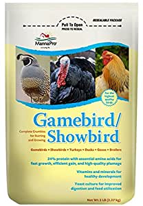 Manna Pro Gamebird Snowbird Crumbles, 5 lb