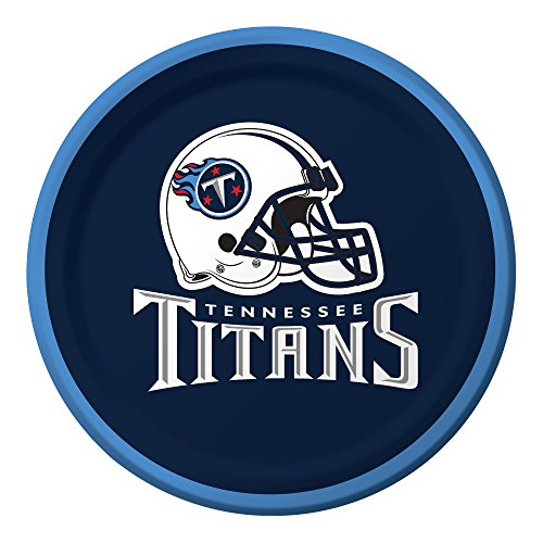 Creative Converting Officially Licensed NFL Dessert Paper Plates, 96-Count, Tennessee Titans ()
