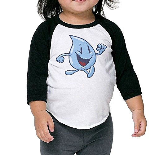 PHINP Lovely Water Drops Middle Sleeve University Bottoming Shirt For Children Frame Png Christmas