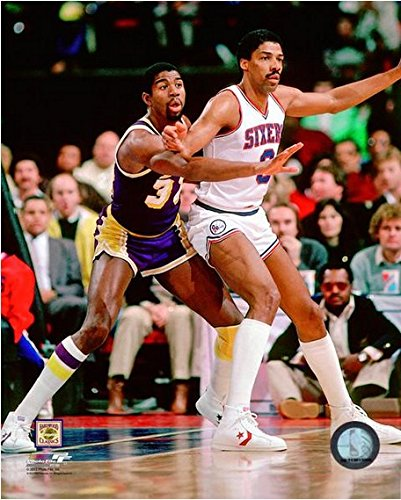 Magic Johnson & Julius Erving NBA Action Photo (Size: 8