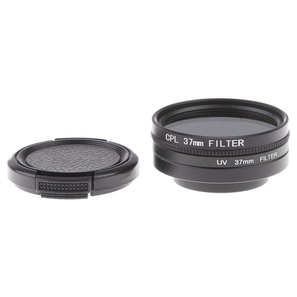 FidgetFidget レンズフィルター + カメラ 37mm UV +37mm プロテクター レンズキャップ Xiaoyi Yi 4K用   B07HH5Y9FZ