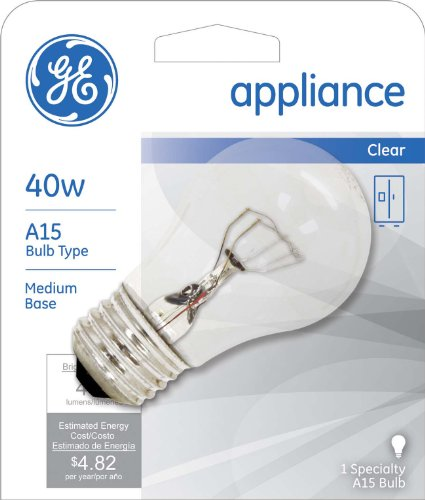 GE Lighting 15206 40-Watt Appliance Light A15 1CD Light Bulb - bedroomdesign.us