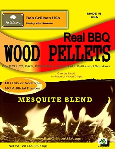 Bob Grillson USA MESQUITE BLEND BBQ Wood Pellets - - 20 LBS