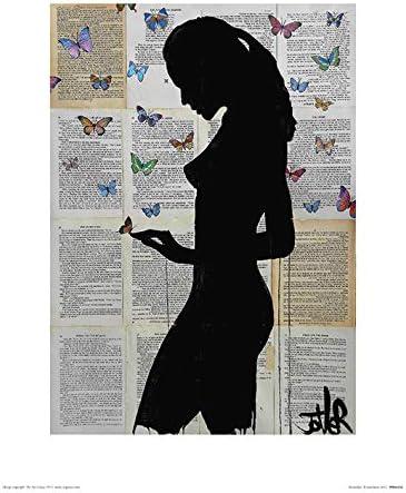 Butterflies -Art Print 30 x 40cm Multicoloured Art Group The Loui Jover 30 x 40 x 1.3 cm Paper