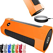 Amazon Tap Case Sling Cover by Cuvr | Easy to Dock and Anti Roll Accessories (Tangerine)