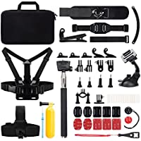 Victure Action Camera Accessories Outdoor Sports Combo Kit for APEMAN / Victure / AKASO EK5000 EK7000/DBPOWER X1/Lightdow LD4000/ Campark 4K/WiMiUS Q1Q2 /SJ4000