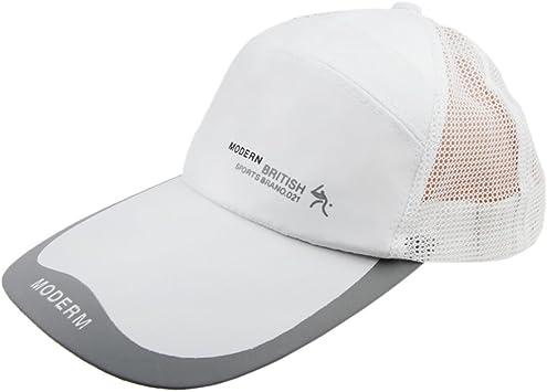 Gorra de béisbol para hombre, con protección solar malla visera ...