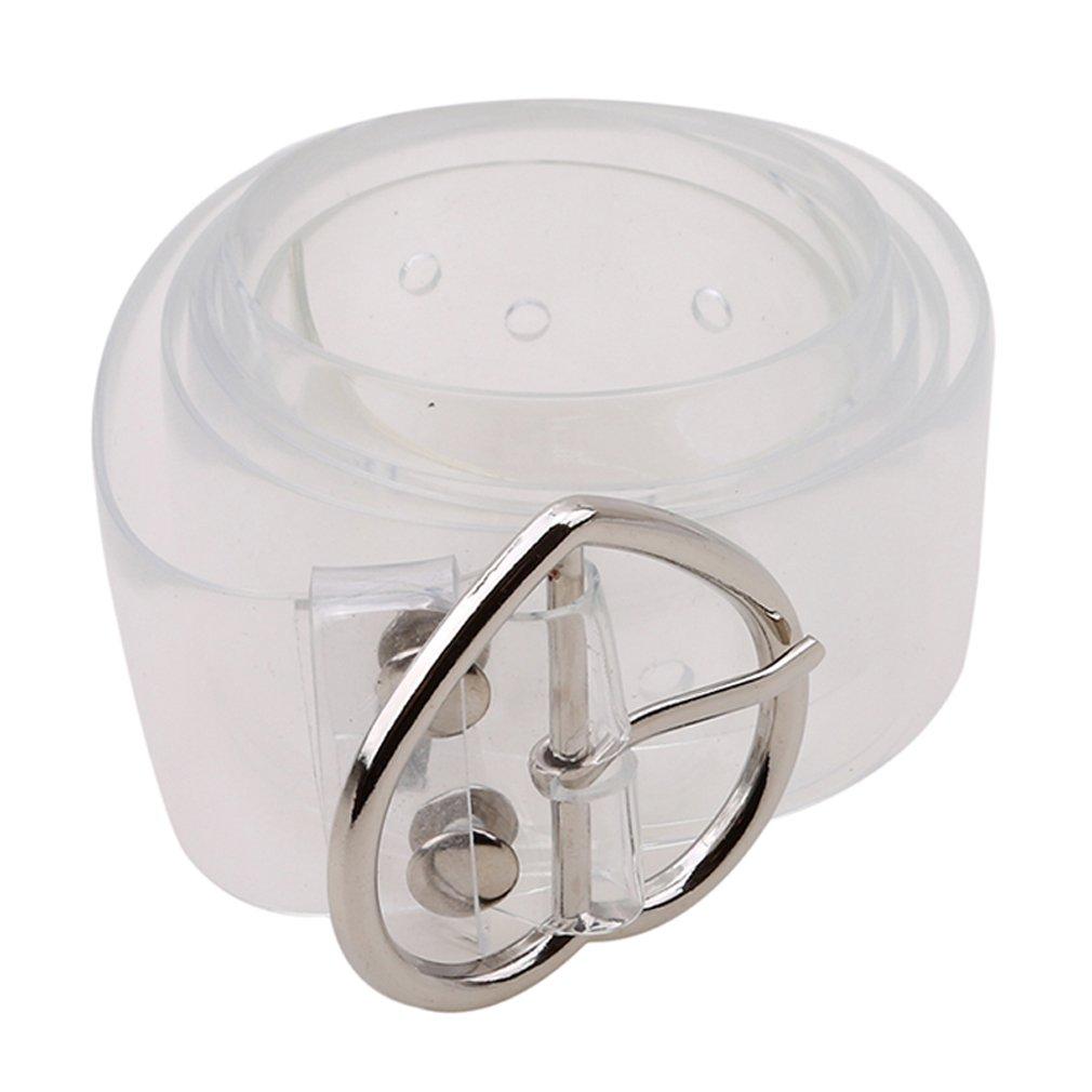 Meolin Transparent Belt Heart Buckle Waist Sweet Female Belt,Soft plastic,40.941.18in
