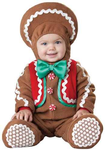 Gingerbread Man Costume Toddler (Sweet Gingerbaby Baby Infant Costume - Infant Small)