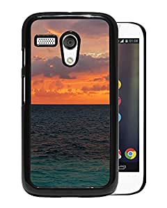 New Beautiful Custom Designed Cover Case For Motorola Moto G With Nature Sunset Ocean Surface Phone Case