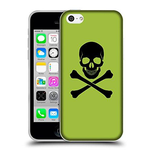 GoGoMobile Coque de Protection TPU Silicone Case pour // Q08040603 Os croisés 1 Android vert // Apple iPhone 5C