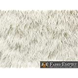 "Faux Fur Long Pile Curly Fabric ALPACA WHITE / 60"" Wide / Sold by the Yard"