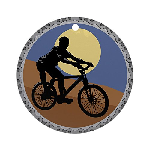 CafePress Mountain Bike Chain Design Ornament (Round) Round Holiday Christmas Ornament (Bicycle Holiday Ornament)