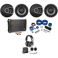 "(4) Polk Audio MM652 6.5"" 1200w Car Audio Speakers+Amplifier+Wires+Headphones"