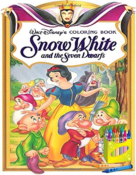 Snow White And The Seven Dwarfs Coloring Book Color Wonder Snow White And The Seven Dwarfs Coloring Book Pages Markers Mess Free Coloring Wonderful Gift For Kids And Adults King Josh