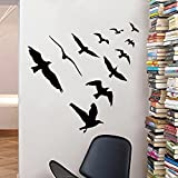 Room Decor Vinyl Wall Stickers Birds Removable Room Decor Wall Decals for Kids Boys Girls