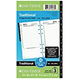 Day-Timer Refill 2019, Two Page Per Day, January 2019 - December 2019, 3-3/4'' x 6-3/4'', Reference, Loose Leaf, Portable Size (10801)
