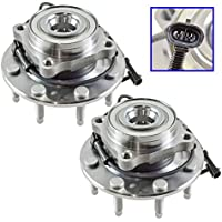 Front Wheel Hub & Bearing Pair Set for Chevy GMC Truck 8...