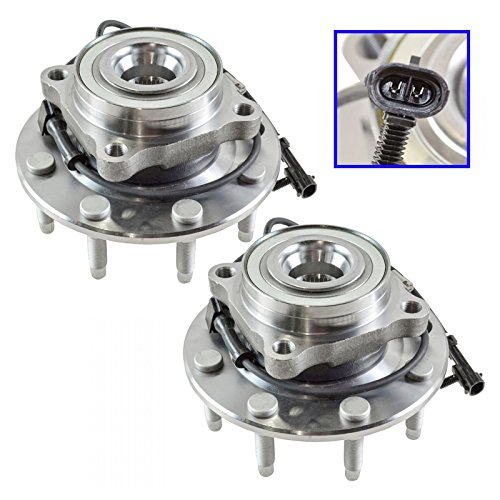 Front Wheel Hub & Bearing Pair Set for Chevy GMC Truck 8 Lug 4X4 4WD w/ABS