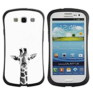 "Hypernova Slim Fit Dual Barniz Protector Caso Case Funda Para SAMSUNG Galaxy S3 III / i9300 / i747 [Blanco Negro minimalista Naturaleza""]"